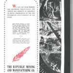 The back cover of the Benton Courier Centennial Magazine. (Click to Enlarge Image)