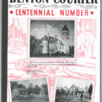 The front cover of the Benton Courier Centennial Magazine. (Click to Enlarge Image)